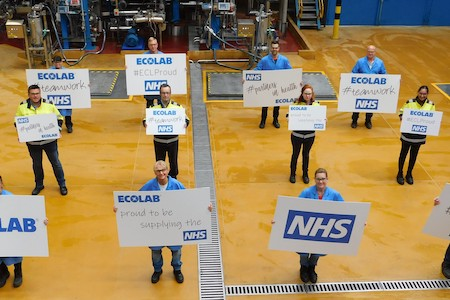 Ecolab to deliver five million litres of hand sanitiser to the NHS