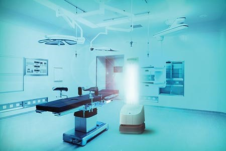 Robot controlled UV-C lights help fight COVID-19